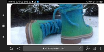 Ботиночки шерстяные с гетрами из мериноса