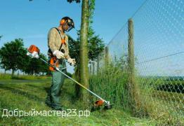 Mowing grass from 250 rubles per hundred square meters